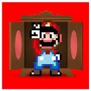 Mário ficou na frente do armário(pego em flagrante)