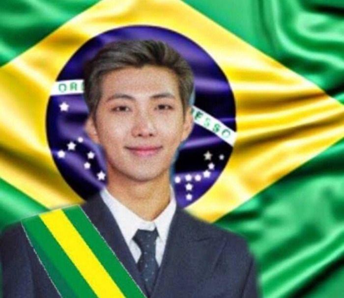 Membro do BTS rouba a presidencia do Bolsonaro  e vira presidente do Brasil