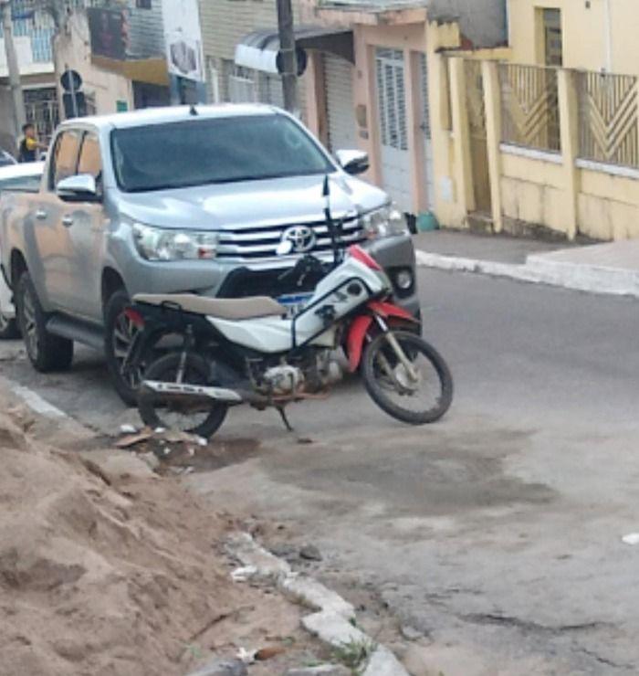 Moto pop 110 roubada é encontrada nas imediações da rua Rui Barbosa