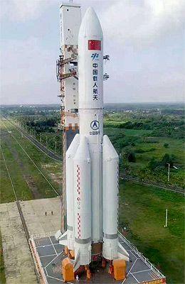 NAVE ESPACIAL CHINESA CZ-5B: